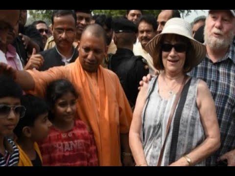 Uttar Pradesh CM Yogi Adityanath visits Taj Mahal in Agra