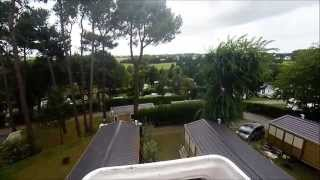 Vue aerienne du Camping Mané Guernehué au coeur du Golfe du Morbihan