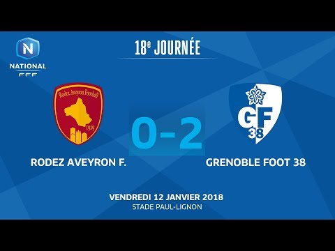 J18 : Rodez Aveyron - Grenoble Foot 38 (0-2), le replay