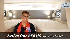 #044 Premiere auf der CMT - Eura Mobil Activa One 650 HS Längseinzelbetten im Alkoven,Hecksitzgruppe