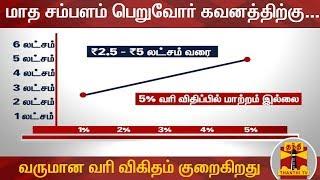 மாத சம்பளம் பெறுவோர் கவனத்திற்கு... வருமான வரி விகிதம் குறைகிறது | Income Tax