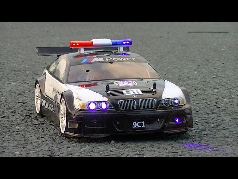 RC POLICE CAR SWOOPS IN ON ILLEGAL TRAXXAS UNDERGROUND STREET RACING
