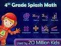 4th Grade Splash Math Worksheets to learn decimal numbers, multiplication, division & fractions