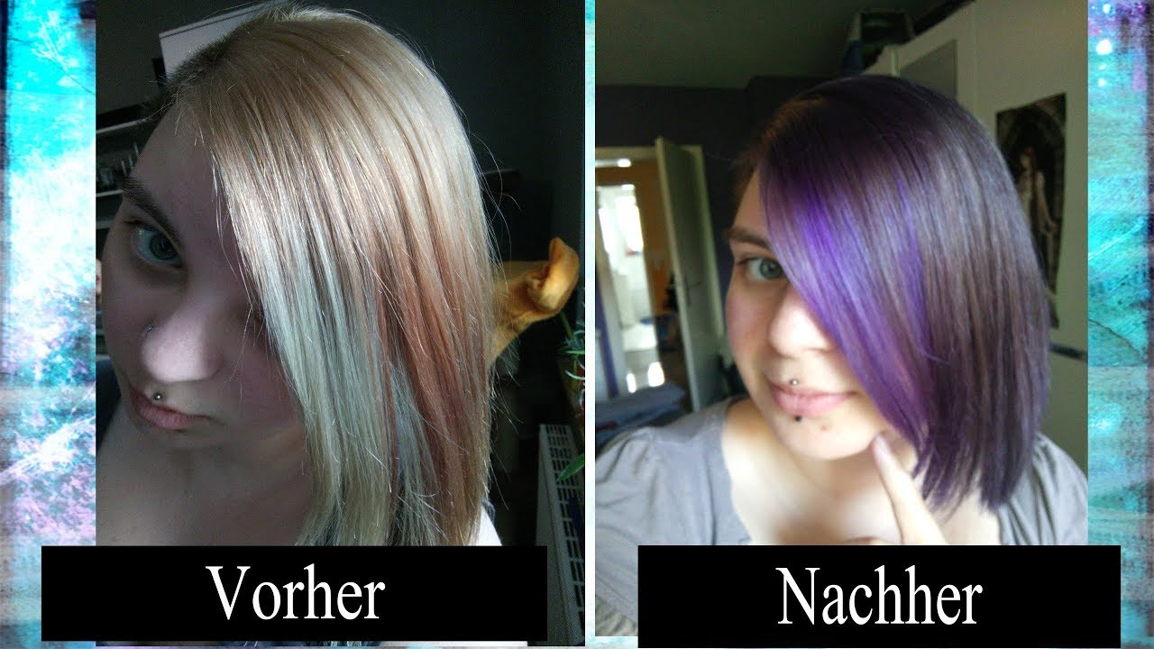 Grau lila haare