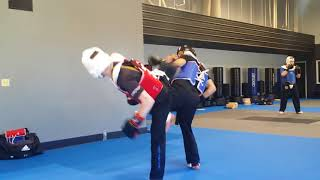 Sparring for 2nd degree Testing at Surge Martial Arts