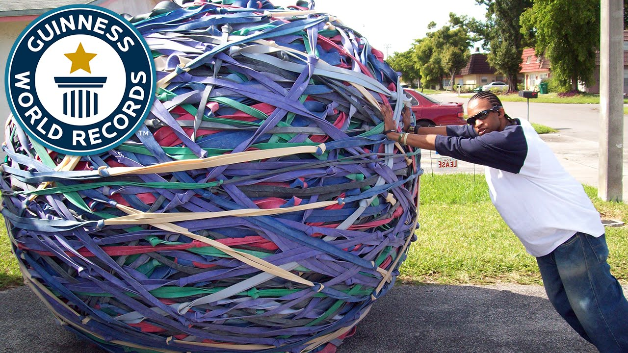 world s largest rubber band ball classics youtube