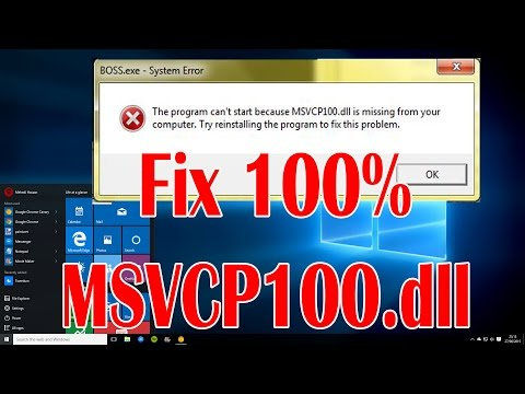 How To Fix MSVCP100.dll Missing Error Working 100% Windows 7, 8, 8.1, and 10 (i Fix it!)