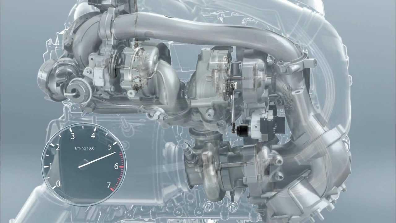 BMW M550d xDrive F10, Motor, Animationen - YouTube