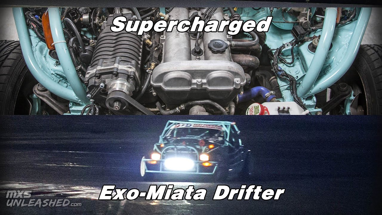 Drift Exo-Miata Supercharged by NTGbuilds doing some Test and Tune