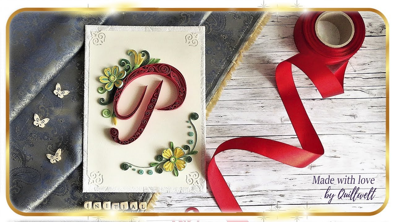 Letter P Wall Decor Paper Quilling Art