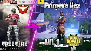 HEROIC IN FREE FIRE PLAY FORTNITE MOBILE FOR THE FIRST TIME! Huawei P30 PRO