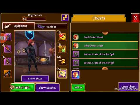 Arcane Legends - Open Gold Orcish Chest