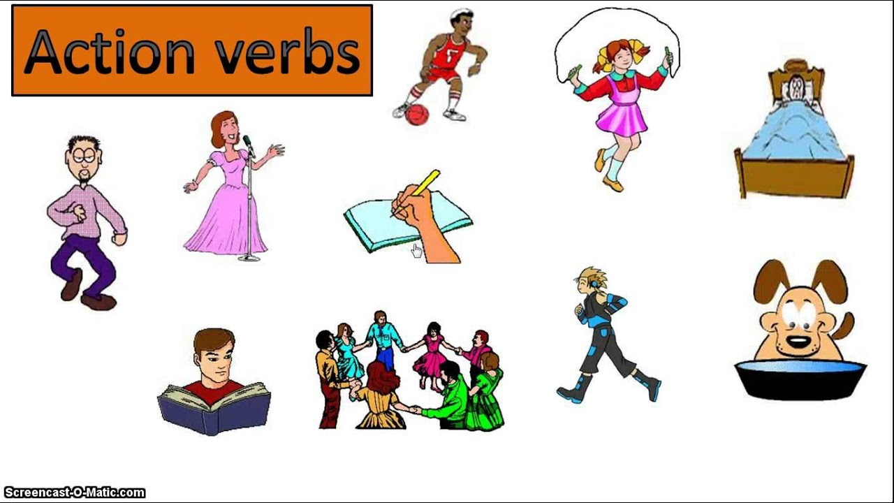 action verbs esl ppt lessons youtube - Action Berbs