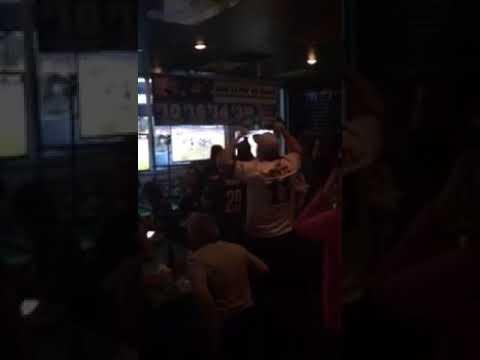 Eagles Fans At Madison Avenue Bar. Las Vegas's Philadelphia Eagles Bar