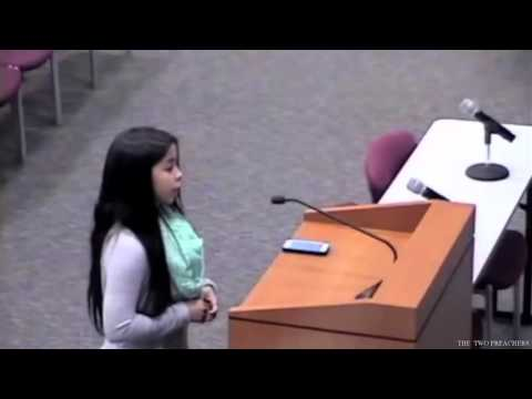 TEXAS TEEN GIRL FORCED TO DENY GOD BY TEACHER.... Then Appears Before the School Board !