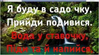 Несе Галя Воду караоке с аккордами
