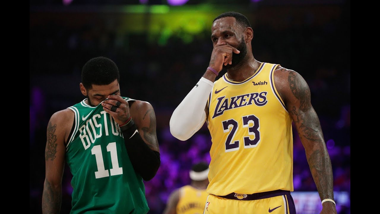 quality design bcf41 24c14 LeBron James and Kyrie Irving Use Their Old Cavs Handshake After  Lakers-Celtics