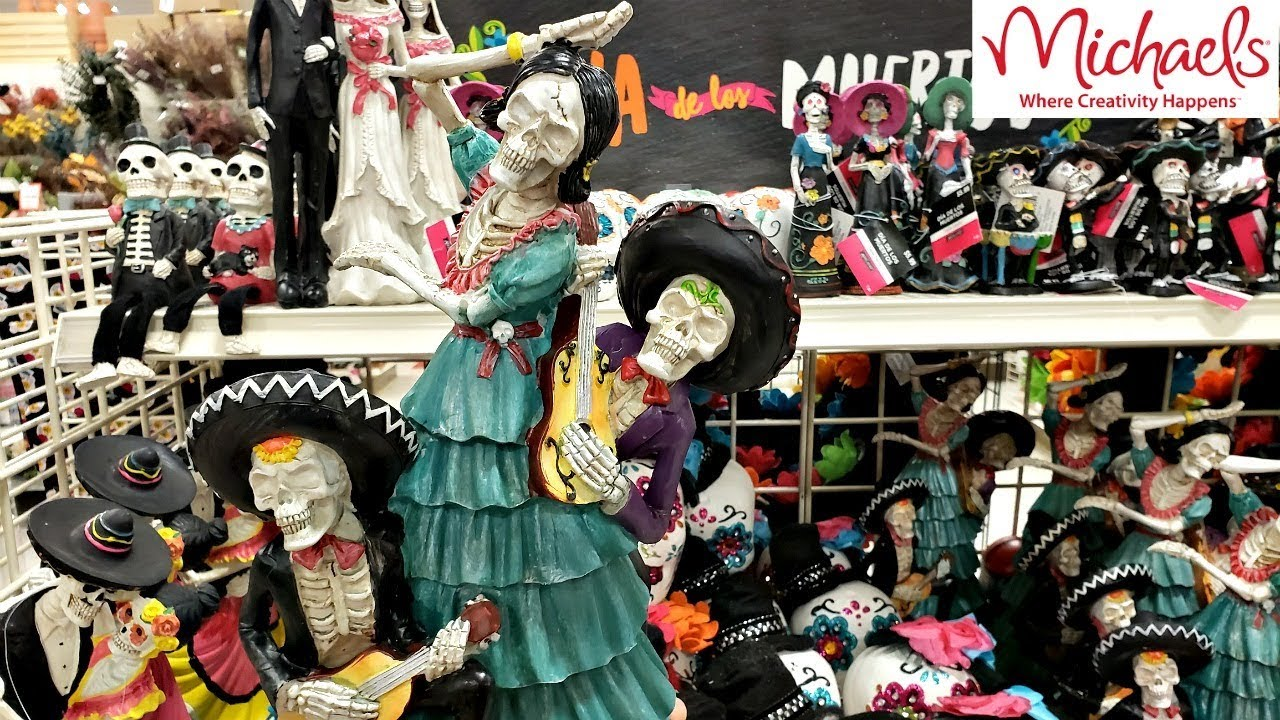 Michaels Day The Dead Halloween DECOR SHOP WITH ME 2018