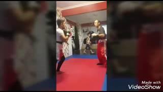 Kick boks hard antreman Ecvet Sırma Özmen Sırma