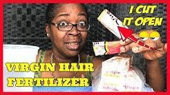VIRGIN HAIR FERTILIZER TUBE DEPOTTING /COME TALK TO ME