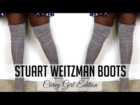 STUART WEITZMAN HIGHLAND  BOOTS  | PLUS SIZE, CURVY, THICK EDITION | Ng's Evidence