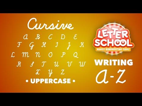 Learn Cursive Handwriting with 'Cursive Writing LetterSchool' - UPPERCASE ABC | English Alphabet