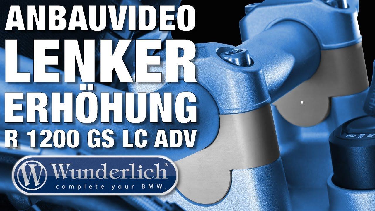 Wunderlich Anbauvideo Lenkererhöhung 25mm R 1200 GS LC ADV // 41970 011