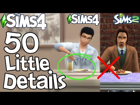 The Sims 4: 50 FUN LITTLE DETAILS not in Sims 2 & Sims 3