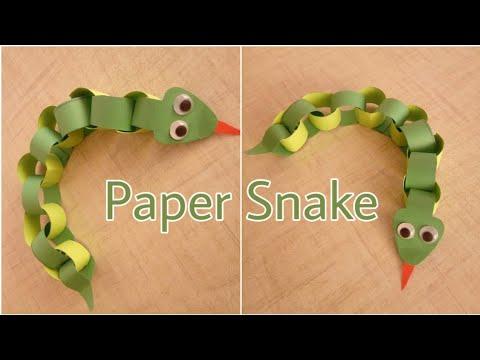 🐍DIY Paper Snake/ How to make paper Snake/ Paper snake for kids/ Easy Paper snake making for kids