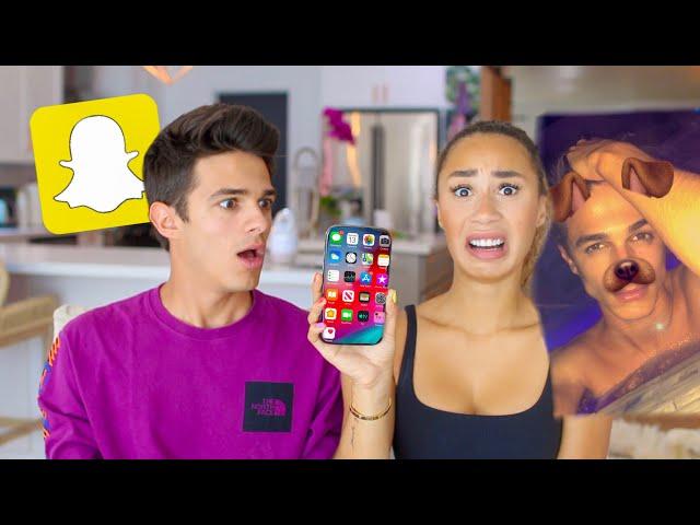 MY CRUSH GOES THROUGH MY PHONE! (bad idea) | MyLifeAsEva & Brent Rivera
