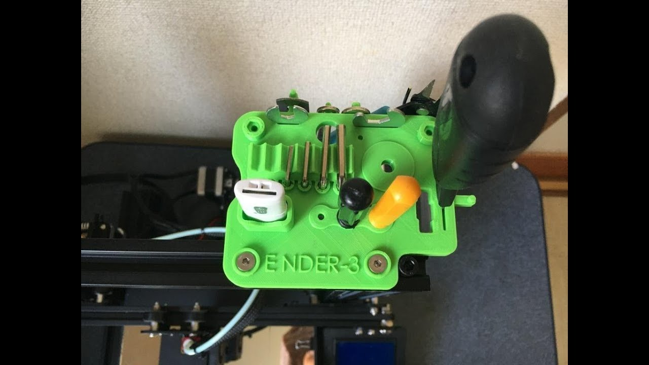 My First Upgrade for Creality Ender-3, Smart Tool Holder