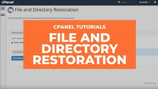WHM Tutorials: File and Directory Restoration thumbnail