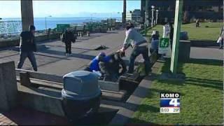 Reporter Saves Man --- Police: KOMO Reporter Shomari Stone Breaks Up Fight  (ABC Seattle Affiliate)