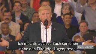 Donald Trump sagt der Lügenpresse (FakeNews) den Kampf an!