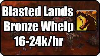 WoW Gold Farming Patch 6.2.2: Blasted Lands Gold Making, Bronze Whelpling spot - WoD Gold Guide