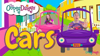 Driving our cars! Fun childrens song about cars and traffic lights by The Oopsy Daisys