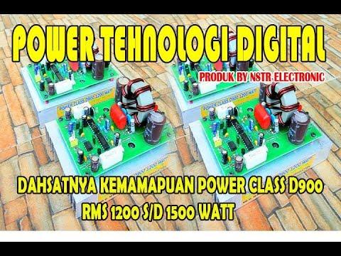 UJI coba power class D900 RMS 1200 watt produksi NSTR ELECTRONIC