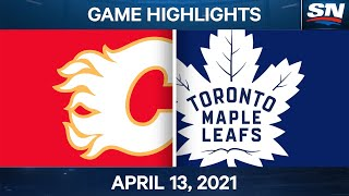 NHL Game Highlights | Flames vs. Maple Leafs - Apr. 13, 2021