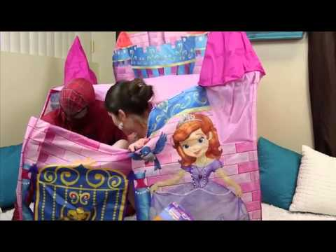 Disney Princess Sofia The First Surprise Toys u0026 Giant Surprise Castle Tent with Barbies u0026 Shopkins & Disney Princess Sofia The First Surprise Toys u0026 Giant Surprise ...