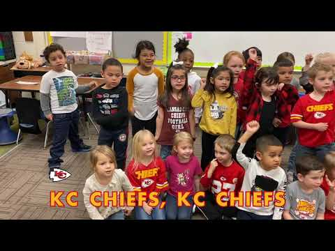 Stony Point South Kindergartners Have special Chiefs Song