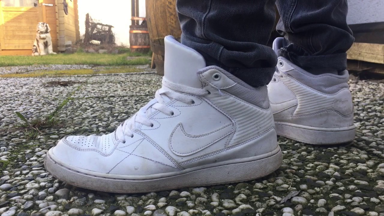 Lijadoras Discutir Adepto  Nike Priority Mid White ON FEET - YouTube