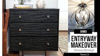 DIY Entryway Makeover  - Dresser Hack | Episode 4