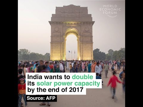India wants to double its solar power capacity by the end of 2017