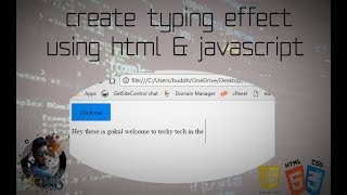 Create a typing effect using html & js By Techy tech