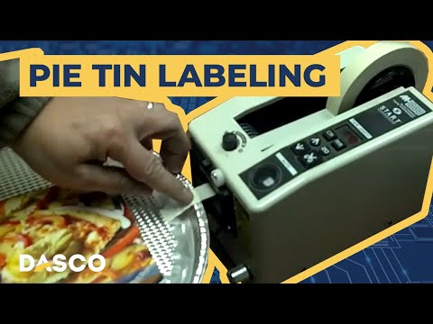 Semi-Automated Pie Tin Labeling | Dasco Custom Solution