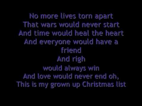 My Grown Up Christmas List - Kelly Clarkson