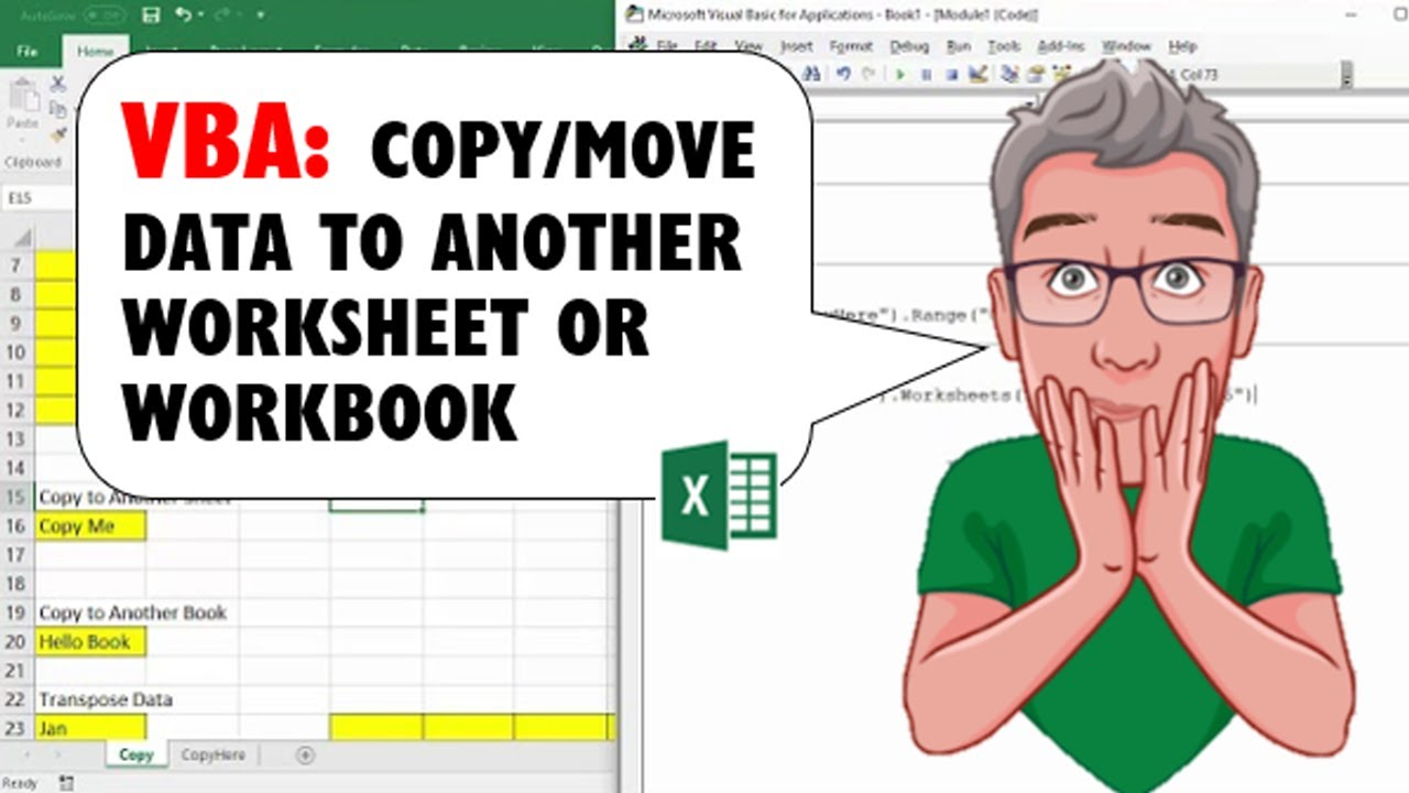 excel vba to copy  move data within sheet  to another sheet