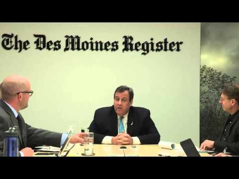 Chris Christie meets with the Register Editorial Board
