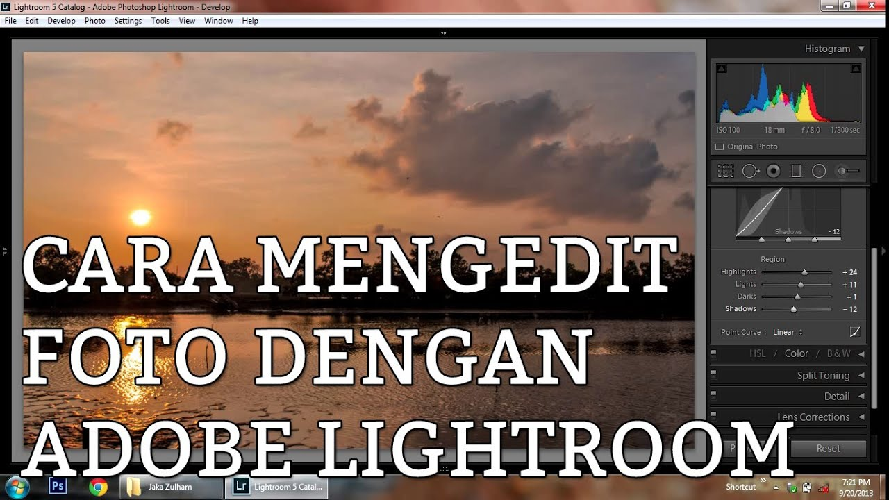 Cara mengedit foto di adobe photoshop lightroom - YouTube
