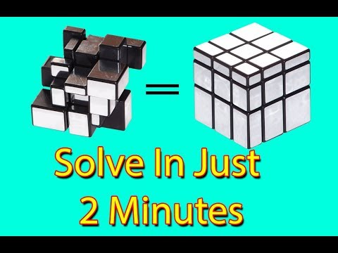 How To Solve A Mirror Cube In Just 2 Minutes In HIndi   Using 3x3 Method ✔